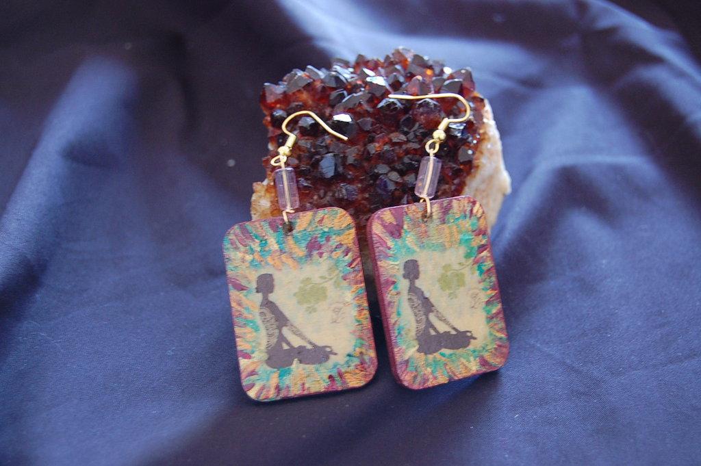 Orecchini linea Eco-Yogica mandala fiore