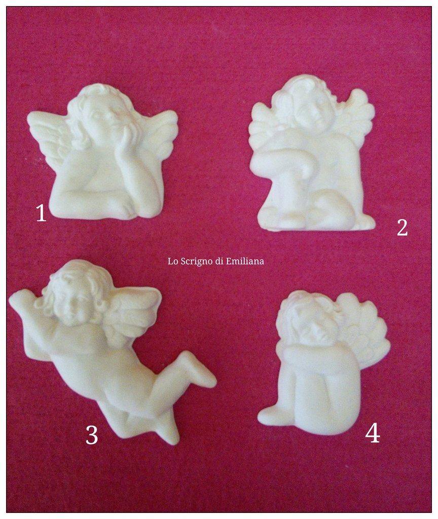 Gessetti profumati angeli per realizzare bomboniere/segnaposto Battesimo/Comunione
