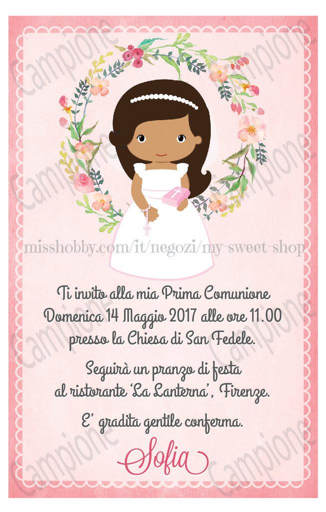 Favoloso Invito digitale Prima Comunione bimba - Feste - Biglietti e inviti  LX47