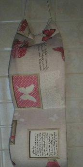 Portarotoli cartaigenica in stoffa bagno idea regalo fatto a mano