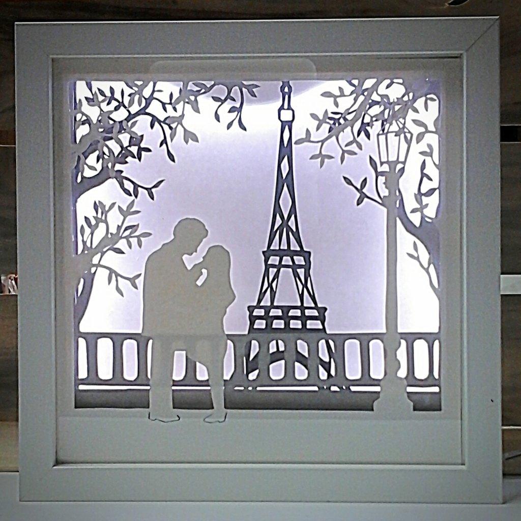 Quadro luminoso a led Parigi