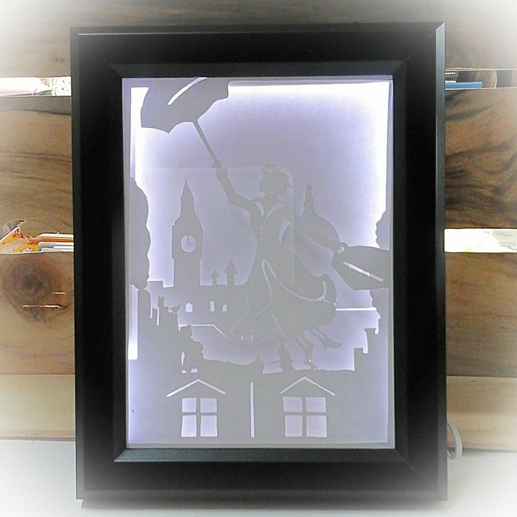 Quadro luminoso a led Mary Poppins