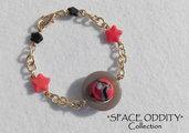 """Bracciale catena con stelline e satellite - Collezione """"Space Oddity"""""""