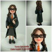 Scultura cake topper tema Harry Potter