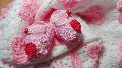 Scarpine bimbo o bimba in lana o cotone