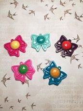 Fiocchi delle guerriere Sailor Moon in resina