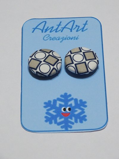 SET 2 BOTTONI CERCHI E QUADRI