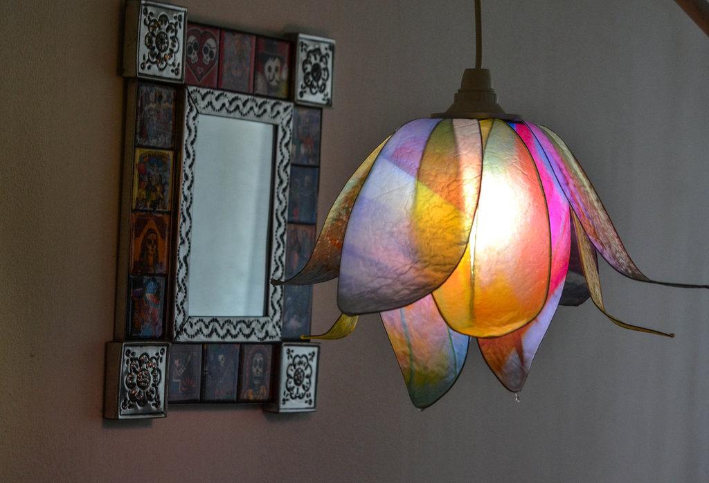 lampadario fiore di luce
