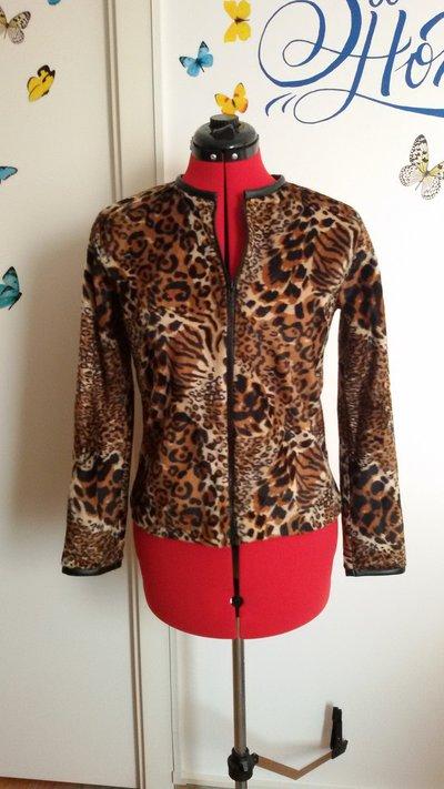 Giacchino leopardato con zip