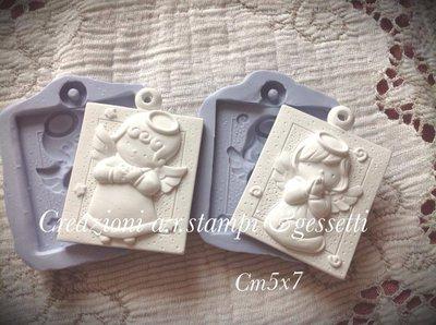 angioletti in gesso ceramico