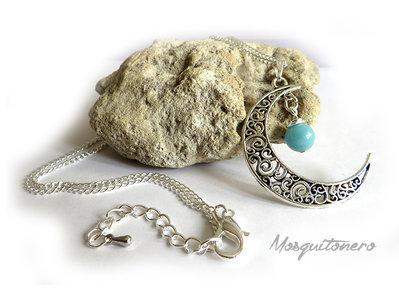 Collana da donna con Luna e perla di Amazzonite