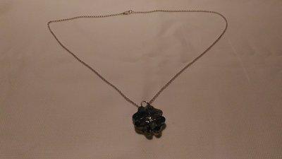 Catenina in argento 925 con swarovski a forma di quadrifoglio