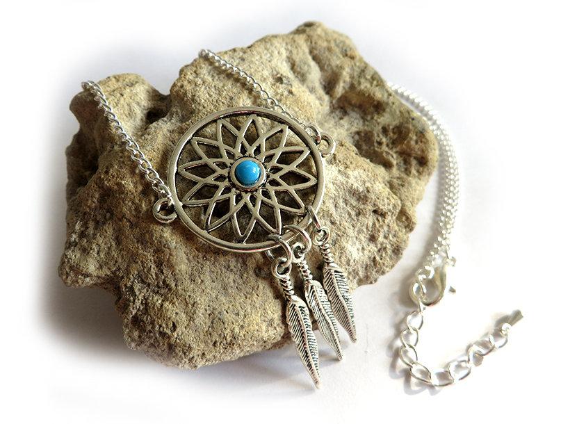 Collana da donna Acchiappasogni indiano Dreamcatcher