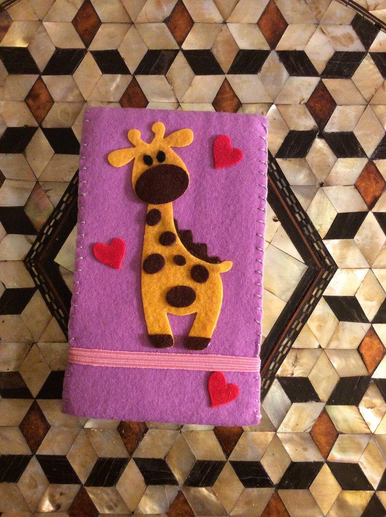 Bloc-notes giraffina cuoricino pannolenci