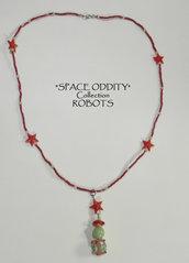 """Collana con pendente """"robot"""" - Collezione """"Space Oddity"""" Robots"""
