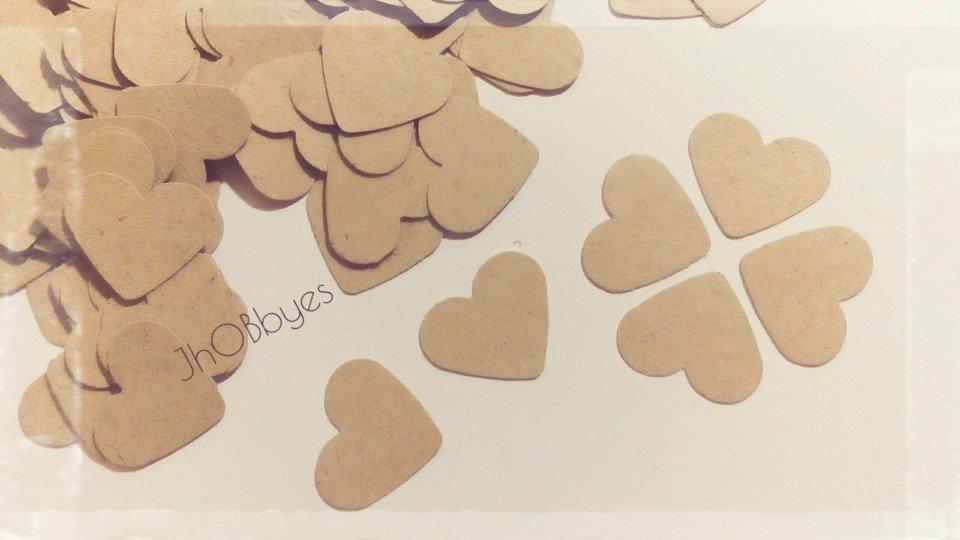 100 Cuori craft in cartoncino