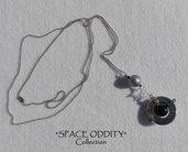 """Catenina lunga con pendente satellite + stellina - Collezione """"Space Oddity"""""""