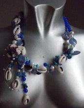 Marine blu collier