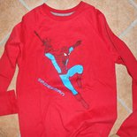 Maglietta a maniche lunga rossa da bambino