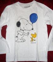 Maglietta bianca a maniche lunghe da bambino