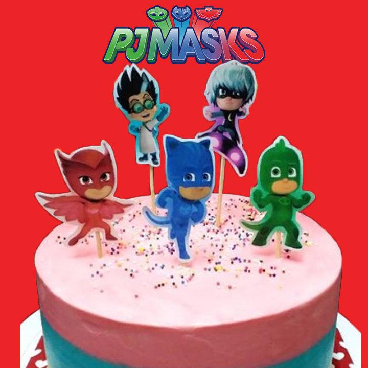 TOPPER per torta SUPER PIGIAMINI_PJ MASKS_COMPLEANNO_CIALDA_PDZ