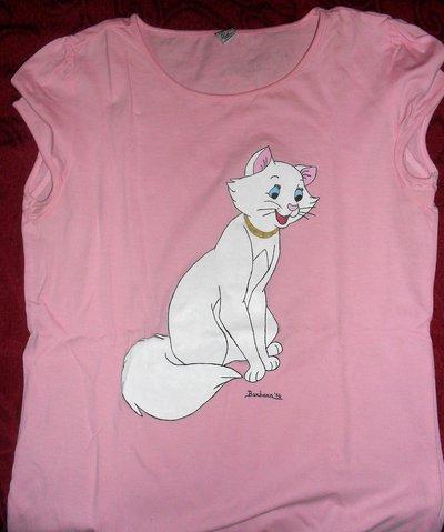 Maglietta rosa a maniche corte da bambina