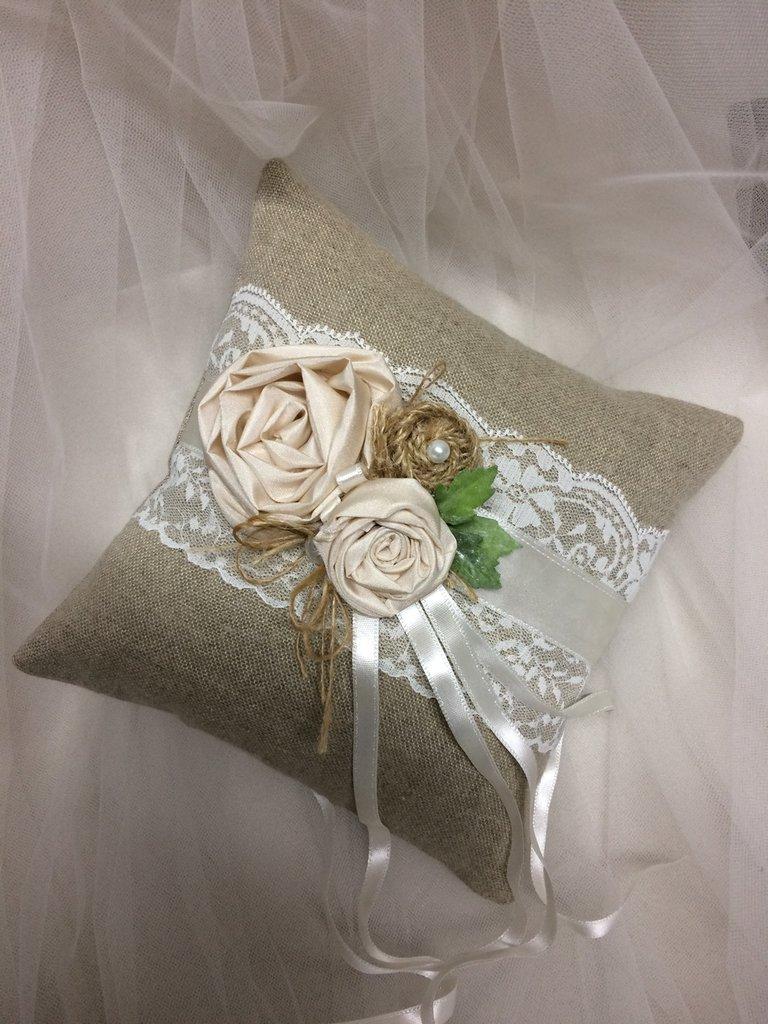 Cuscini Portafedi Nuziali.Cuscino Porta Fedi Nuziali Feste Matrimonio Di Mon Petit