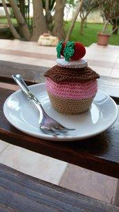 Cupcake amigurumi con fragoline