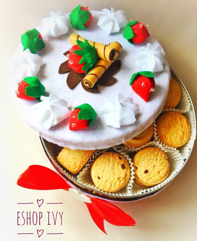 Idea regalo centrotavola torta scatola decorata accessorio arredamento casa