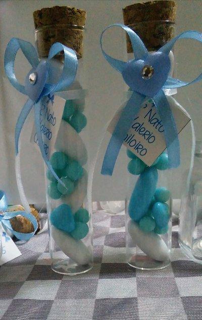 Provetta in vetro bomboniera wedding party confetti