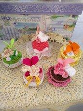 Cupcake amigurumi in cotone