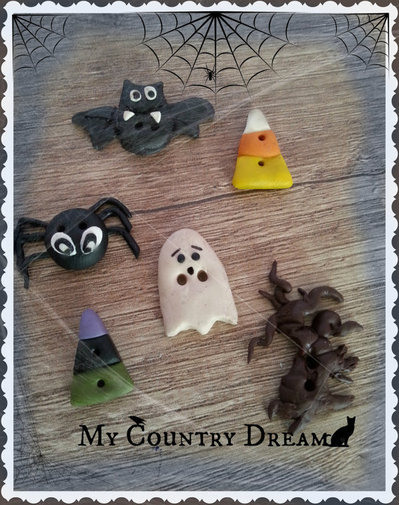 """Bottoni artigianali """"Halloween time"""""""