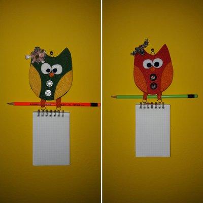 Gufetto notes con matita