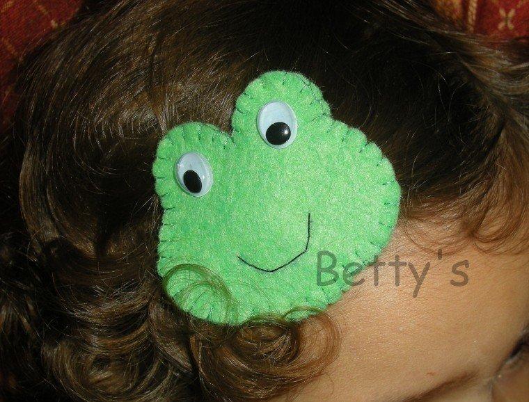 Fermaglio - molletta per capelli Ranocchio