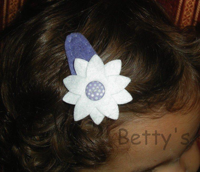 Fermaglio - molletta per capelli pannolenci