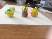 Frutta, ricambio in vetro per lampadari di Murano, come mele, pere e uva