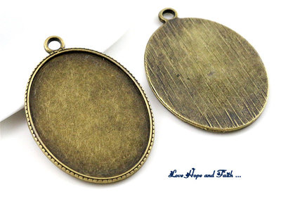NOVITA'! Base cabochon color bronzo (bcod.428)