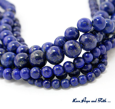 "NOVITA'! LOTTO 60 perle ""Simil Lapis"" (6 mm) (cod. new)"