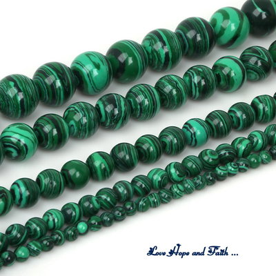 "NOVITA'! LOTTO 48 perle ""Simil Malachite"" (8 mm) (cod. new)"