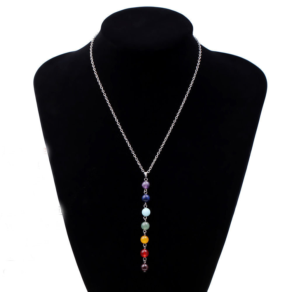collana 7 Chakra Perline Donna Yoga Reiki Healing guarigione buddismo pietre