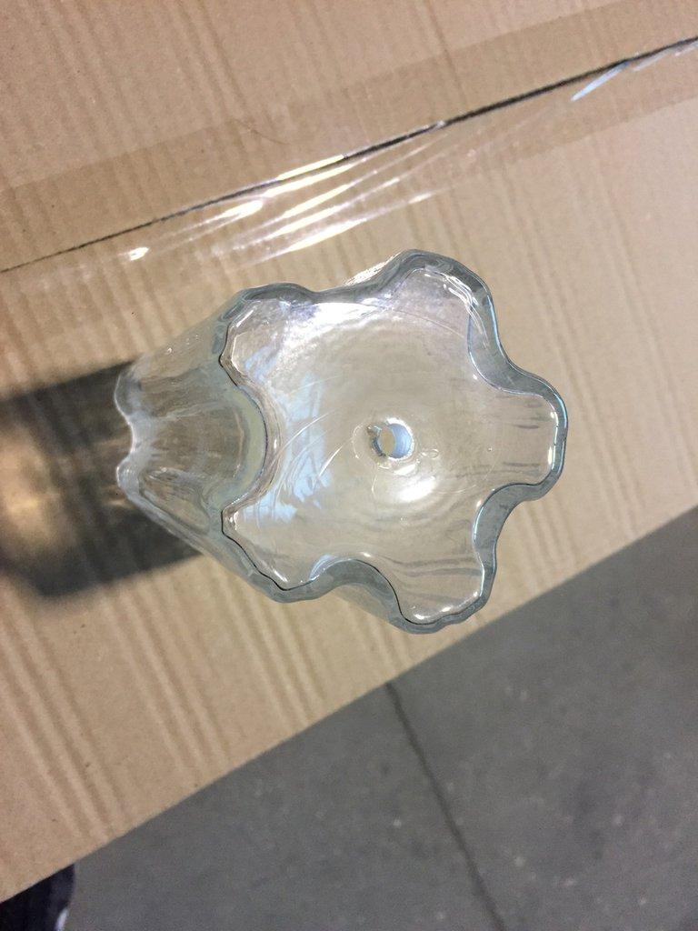 Tubo con 5 lati, in vetro soffiato di Murano, ricambio per lampadari