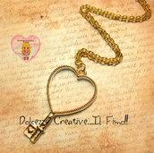 Collana Pastel - Chiave a forma di cuore - handmade kawaii
