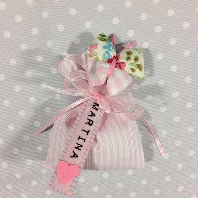 Bomboniera segnalibro bimba sacchetto confetti