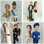 Cake topper matrimonio in porcellana fredda