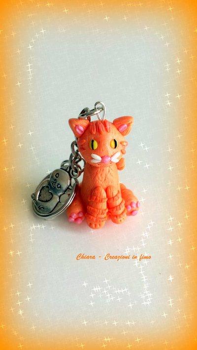 Portachiavi in fimo personalizzato con il vostro gatto! miniature idee regalo