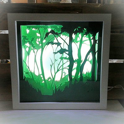 Quadro luminoso a led foresta