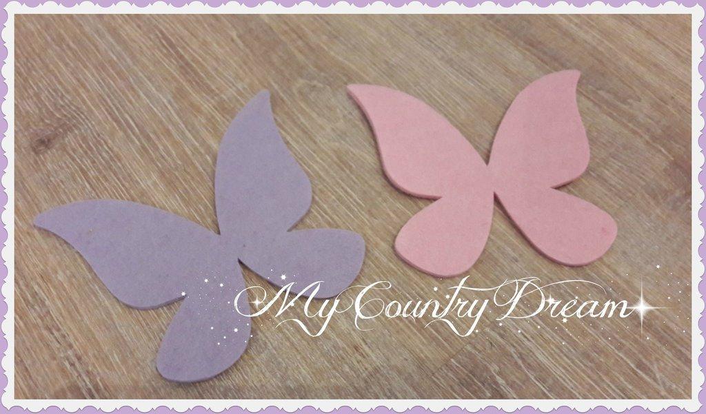Set farfalle fustellate