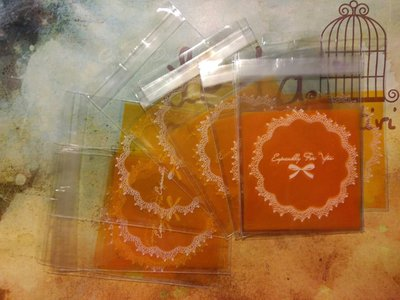 15 Bustine arancioni per confezionamento