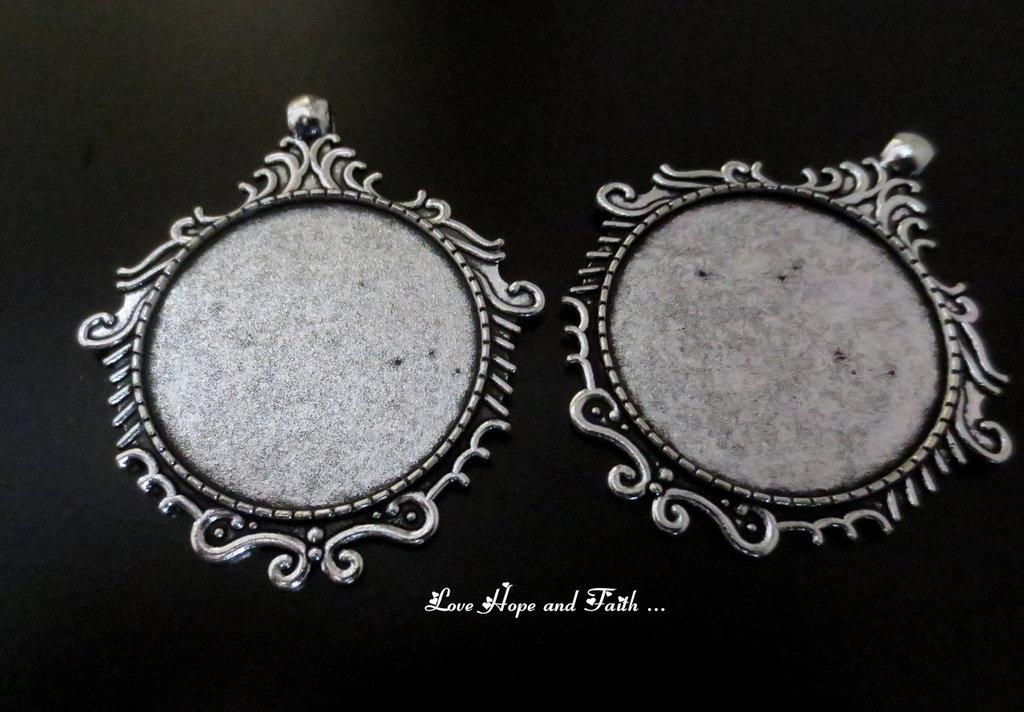NOVITA'! Base cabochon color argento scuro (cod.50196-0)