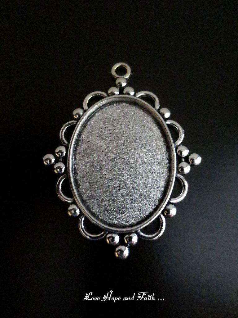 NOVITA'! Base cabochon color argento (bcod.new)